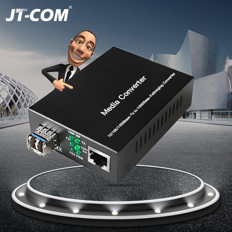 Gigabit SFP Media Converter 1 RJ45 Ethernet To Optical Port Fibra Optica Switch Fiber Optic Transceiver Module 20 80 Km