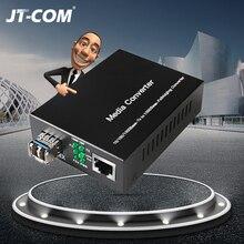 ギガビット sfp メディアコンバータ 1 RJ45 イーサネット光ポートフィブラ視神経スイッチ繊維光ファイバトランシーバモジュール 20 80 キロ