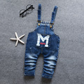 Spring Autumn 2017 Kids Boys Blue Denim Jeans Boys Overalls Jumpsuits For Toddler Bib Pants