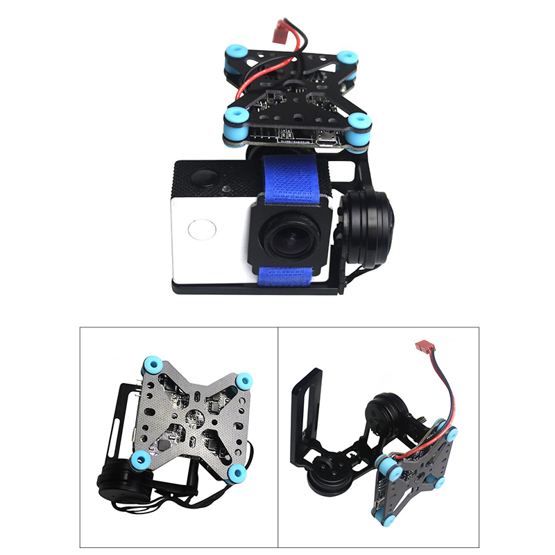 2 axis Brushless FPV Drone Gimbal Board Light 108g Mini Gimbal PTZ Free Debug For Gopro 3/4 Xiaoyi 60 100g Sports Action Camera