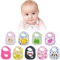 5 pçs/lote Bebê Algodão Bib Infantil Toalhas de Saliva Do Bebê À Prova D' Água Babadores Para Bebês Recém-nascidos Acessórios Dos Desenhos Animados Desgaste Frete Grátis