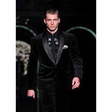 Мужские Бархатные костюмы черные блейзеры и брюки новинка мужские