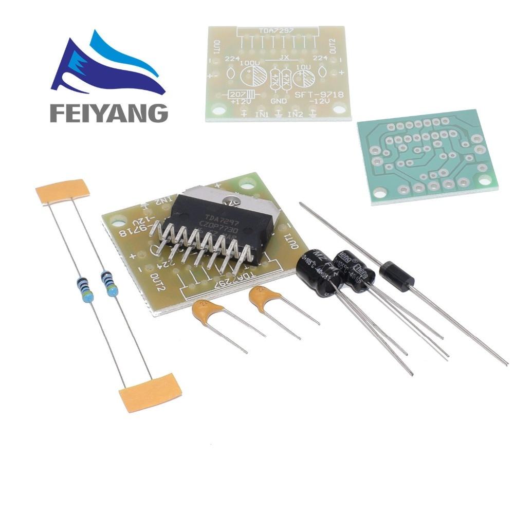 1set TDA7297 amplifier board spare parts dc 12v grade 2.0 dual audio encoding 15w electronic diy kit1set TDA7297 amplifier board spare parts dc 12v grade 2.0 dual audio encoding 15w electronic diy kit