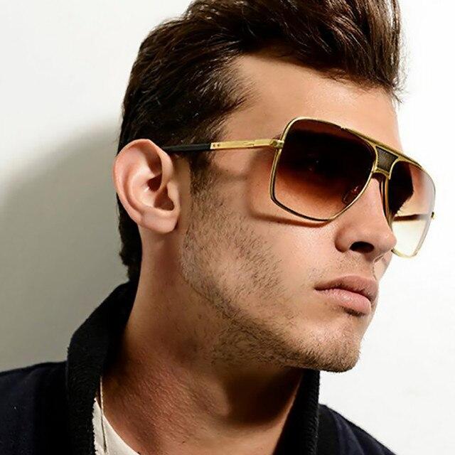 Molgirl kacamata fashion pria kacamata hitam klasik pria retro vintage  merek desain logam bingkai kacamata besar f16db23708