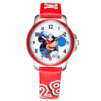 Disney Brand Original NO MK 14026 Gift Box Children Boy Girl Watches Quartz Leather Cartoon Mickey