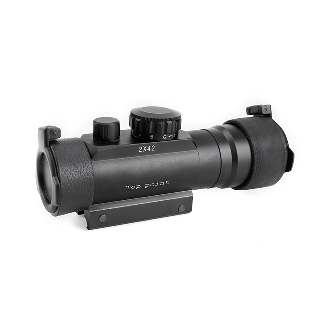 SPINA OPTICS 2x42 Red And Green Dot Reflexible Rifle Scope 2X Magnification Sight For Hunting