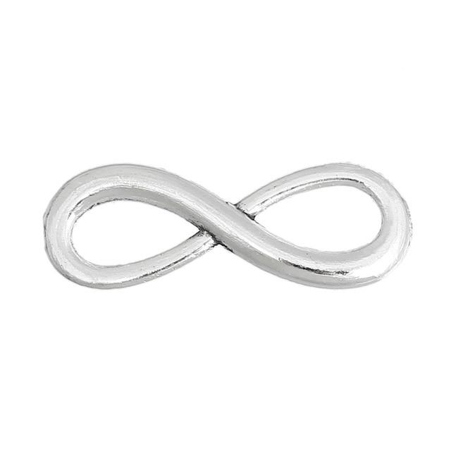 Doreenbeads 30pcs Antique Silver Color Infinity Symbol Connectors