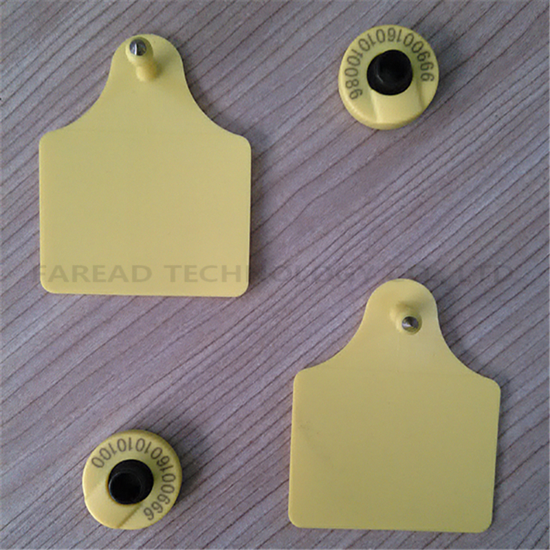 x10pcs RFID ear tag ISO 11784 5 HDX electronic Ear Mark for pig cow sheep etc