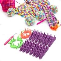 DIY Knitting Looms Long Ring Set Hat Socks Scarves DIY Craft Kit with Hook Needles #082125#