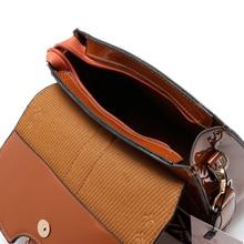 Lesklá kabelka so širokým farebným popruhom 5farieb