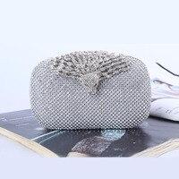 Party Evening Bag Luxury Crystal Evening Bag Peacock Clutch diamond party purse Women wedding handbag 81 52