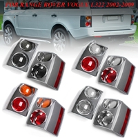 1 Pair Rear Tail Brake Lights Bumper Reflector Tail Brake Stop Light For RANGE ROVER VOGUE L322 2002 2003 2004 2005 2006 2009