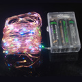 2M/20LEDs 3M/30LEDs 5M/50LEDs 10M/100LEDs Waterproof LED Copper Wire String Light Battery Operated LED Fairy Lights for Holiday