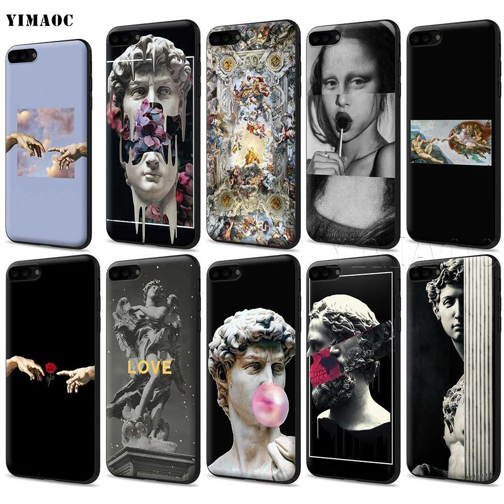 YIMAOC Michelangelo Art Statue Aesthetic Silicone Soft Case for iPhone 11 Pro XS Max XR X 8 7 6 6S Plus 5 5S SE