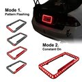 New Arrival Universal 12 V 54 LED Color Light License Plate Frame (Red) 8z1562