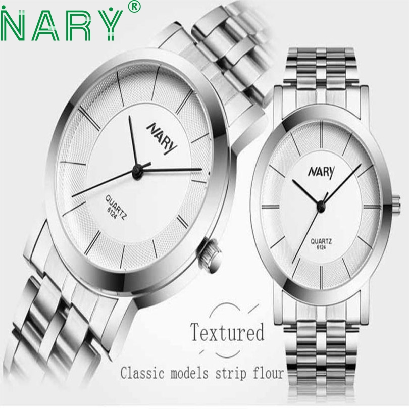 Essential Wristwatch Bangle NARY Luxury  quartz-watch  NARY Luxury Women Single Quartz Stainless Refined Steel  Watches 17Tue27 essential nary wristwatch bangle bracelet luxury men stainless steel classical quartz analog wrist watch gift 17tue27