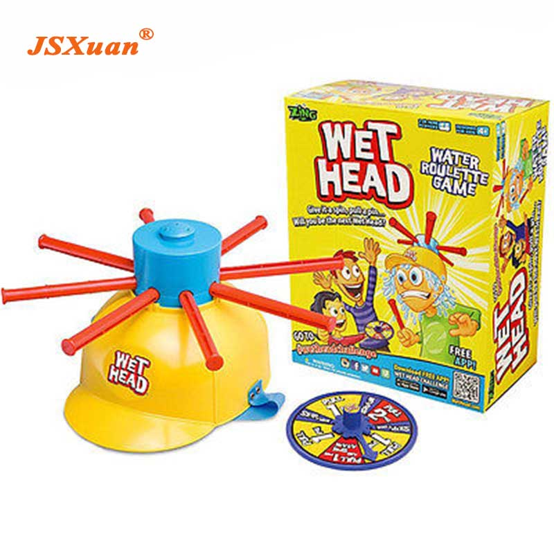 JSXuan 2018 New Parents Kids Wet Head Water Roulette Family Game Fun Kid Challenge Hat Practical Jokes Party Funny Toy image