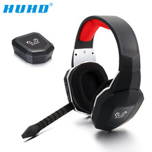 HUHD HW-399M Professional Original 2.4GHz Wireless Optical Fiber Stereo Gaming Headset Headphones for Xbox One 360 PS4 PS3 PC
