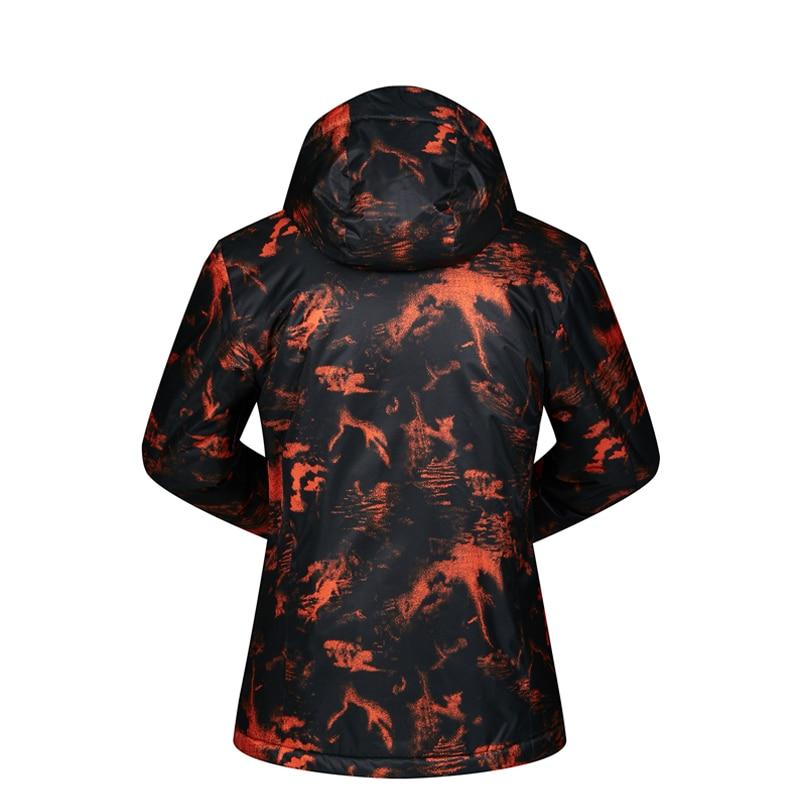 Hommes veste de Ski Ski Snowboard vêtements coupe-vent imperméable à l'eau en plein air Sport porter Super chaud à capuche respirant manteau veste d'hiver - 2