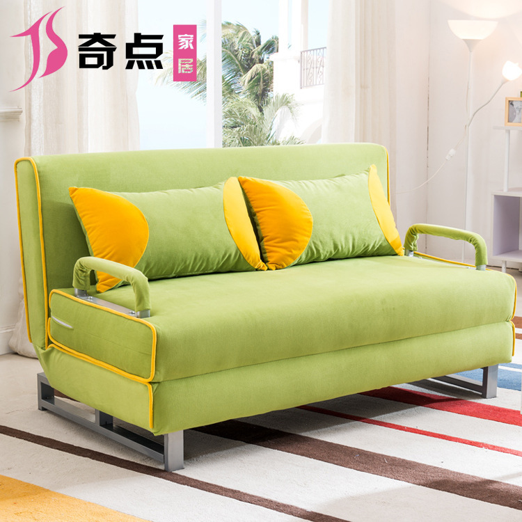 Multi Function Folding Sofa Bed Small Apartment Washable Fabric Folding Sofa  Convertible Sofa Bed Office Lunch Break In Living Room Sofas From Furniture  On ...