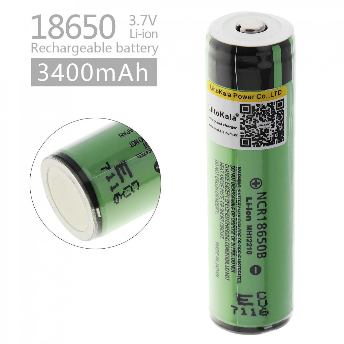 LiitoKala 18650 3400 mah NCR18650B Wiederaufladbare Li-Ion Batterie mit Geschützt PCB für LED Taschenlampen Scheinwerfer Fahrrad Lampen