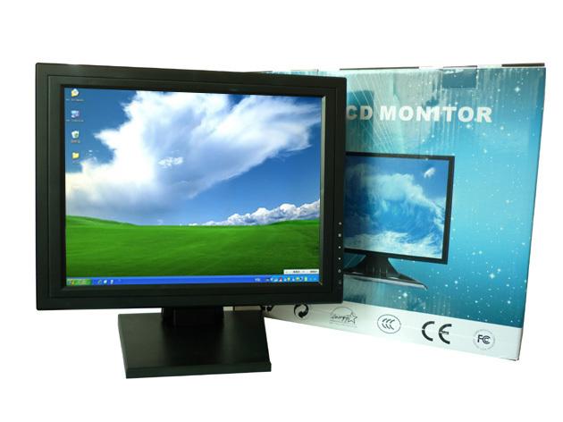 Painel USB preto 17 polegada LCD TFT Touch Screen Monitor de função de Monitor de painel de toque para PC