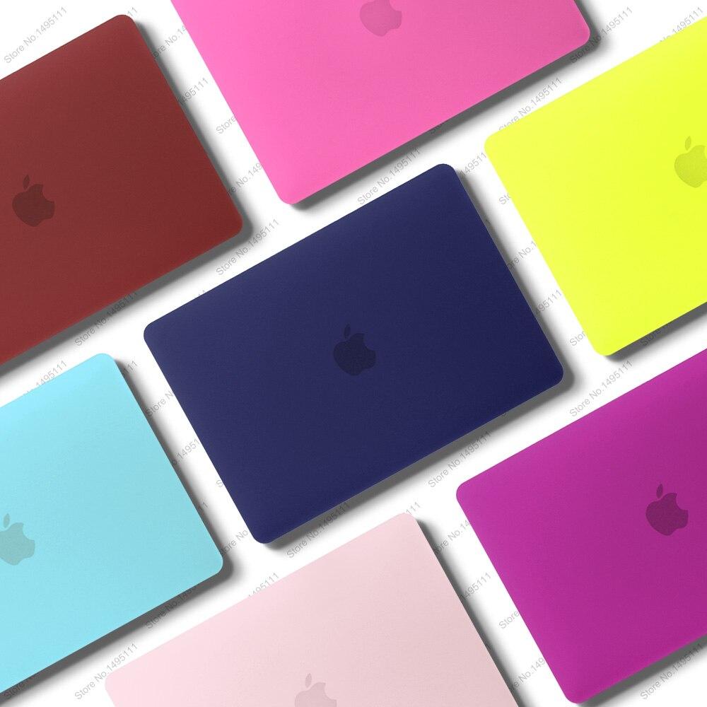 Nuevo color portátil caso para APPle MacBook Air Pro Retina, 11 12 13 13,3 15 15,4 pulgadas con Touch Bar + teclado