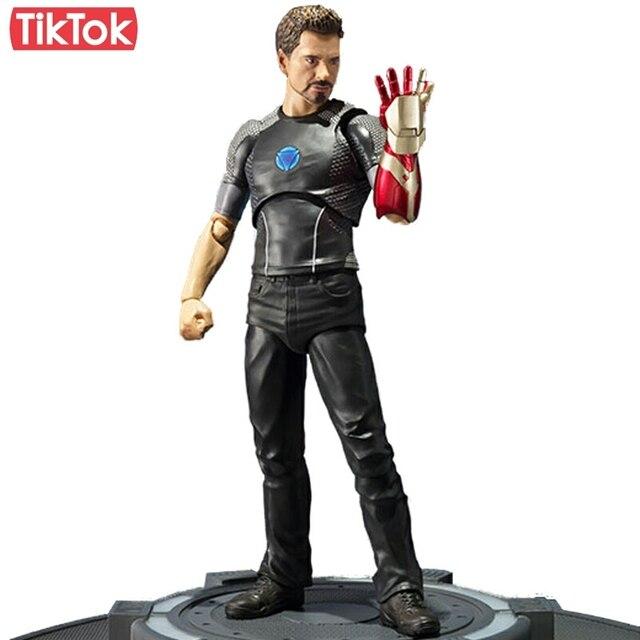 Iron Man 3 Tony Stark Tony's Powered Stage Toy Action Figure Model Gift
