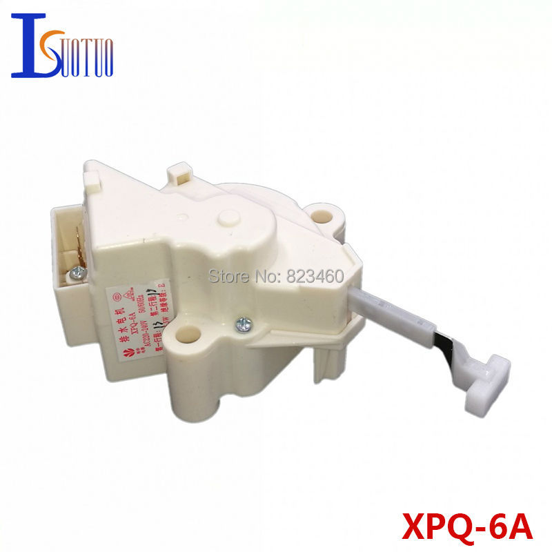 Original Haier double stroke washing machine tractor XPQ-6A hand rubbing washer drain valve motor washing machine parts tractor ntcu 402kc2 90mm drain motor valve