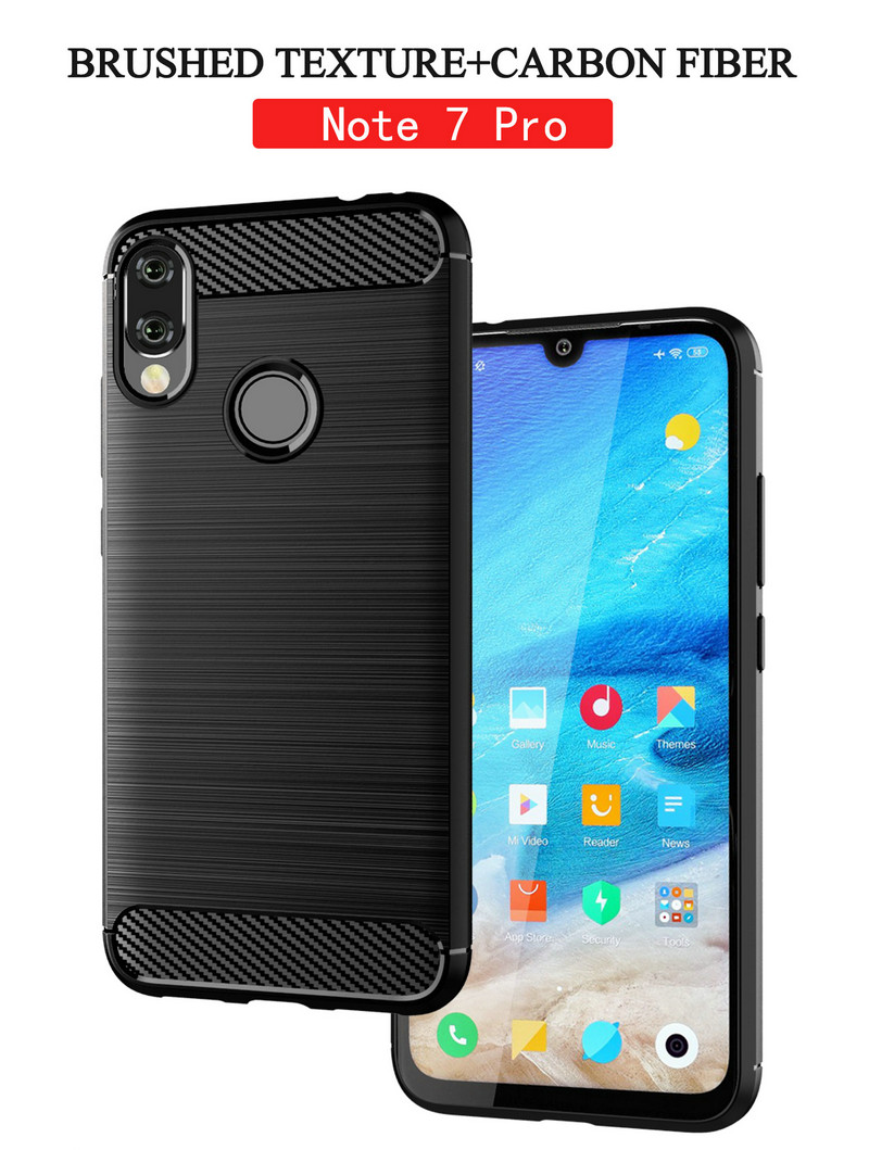 For <font><b>Xiaomi</b></font> Redmi <font><b>Note</b></font> <font><b>7</b></font> Case Silicone Armor Bumper Shockproof Cover Phone Cases For <font><b>Xiaomi</b></font> Redmi <font><b>Note</b></font> <font><b>7</b></font> Pro Cases Fundas Capa image
