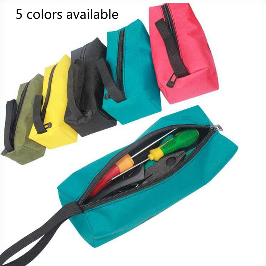 1PC Multi-color Storage Tools Bag Utility Bag Oxford Canvas Waterproof Multifunctional For Small Metal Part With Carrying Handle
