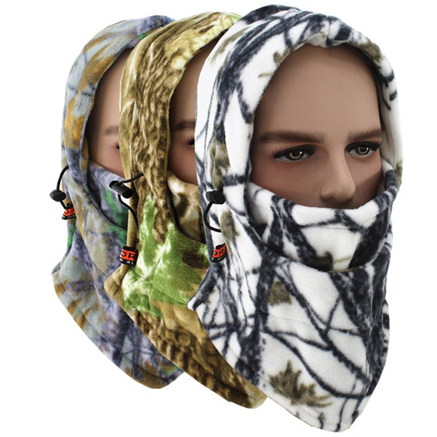 Winter Fishing Hats Caps Camouflage Camo Ventilated Breathable Windproof Keep Warm Face Mask Hunting Hiking Outdoor Sport Hat
