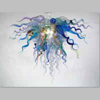 Glass Material And Multiple Color Color Murano Glass Chandelier
