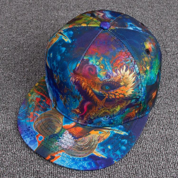 28554bb201d 3D Printed Dragon Snapback Caps Adult Hiphop Dance Headwear Men Cool  Skateboard Hat Women Fashion Baseball Cap on Aliexpress.com
