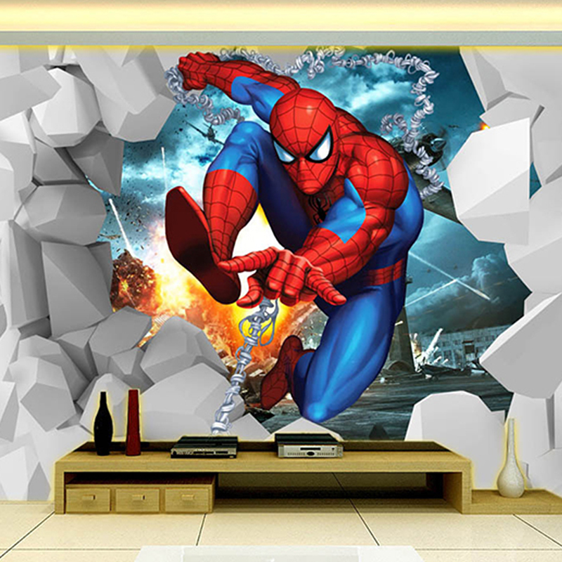 Aliexpress Com Buy 3d Walls Wallpaper Rolls Photo Wall: Aliexpress.com : Buy Hottest Cool Cartoon 3D Photo Mural