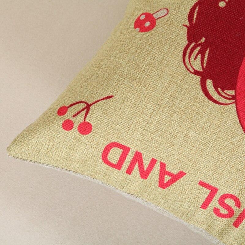 Cute Girl Cushion Мұқабасы Linen Cotton Үй Декор Sofa - Үй тоқыма - фото 5