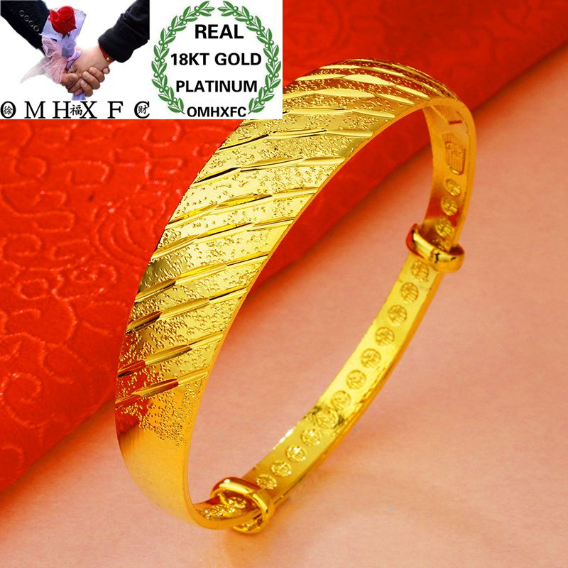 Fine Jewelry Omhxfc Wholesale European Fashion Woman Girl Party Wedding Gift Full Stars Meteor 18kt Gold Bangles Be02 Dependable Performance