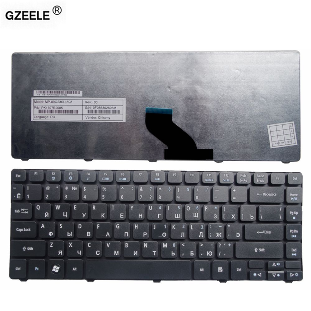 GZEELE  Laptop Keyboard For Acer Aspire 4251 5935 5935G 5940 5940G 5942 5942G 3750 3750G 3750Z 3935 4250 4252 RU BLACK KEYBOARD