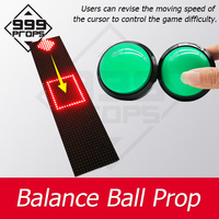 999PROPS Balance ball prop Real life room escape press buttons to control cursor in the square for certain time Chamber game