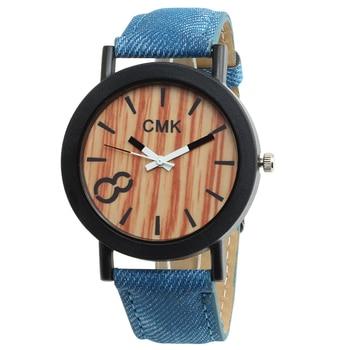 New Brand CMK Women Watch Simulation Wooden Watches Relojes Men's Casual Business Quartz Wristwatch Leather Relogio Masculino