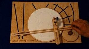 Image 3 - 基本版バスウッド195ミリメートルdiyサイクロイド描画有機モーション彫刻dhuggerオタクのおもちゃマシングラフプロッタデュオグラフ