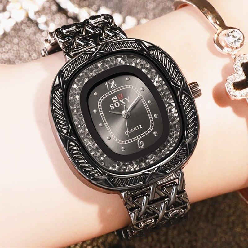 Women Watches New Arrived Soxy Ladies Bracelet Watch Quartz Dress Wristwatch Full Steel Relogio Feminino Luxury Mujer Kol Saati