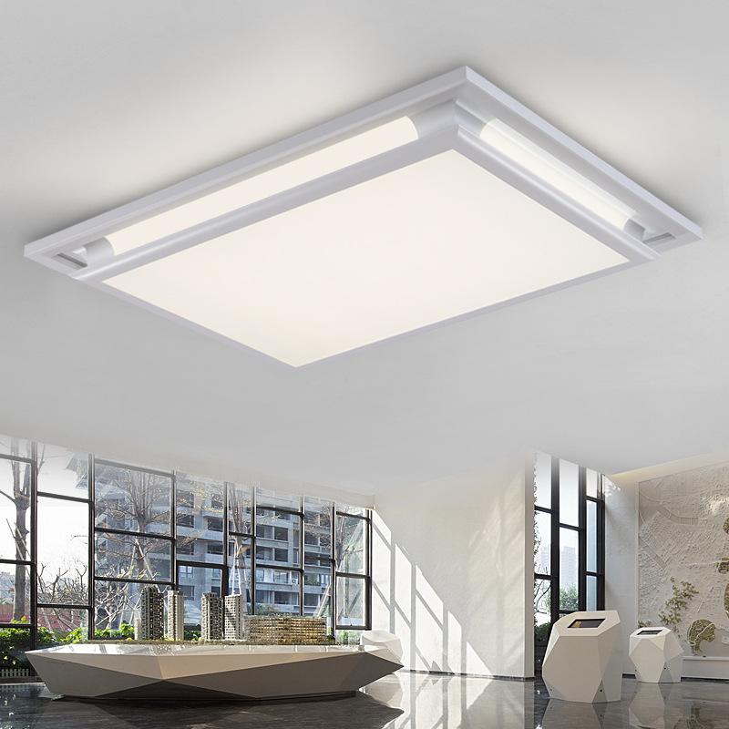 Creative Square Led Ceiling Lights For Living Room Bedroom Lamp Bright Light Fixture