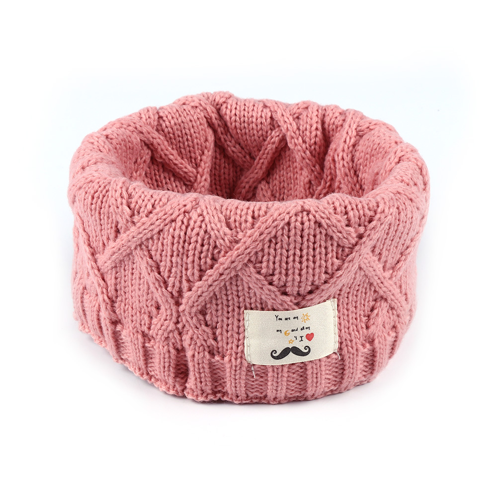 Kids Winter Knitted Warm Scarf Boys Girls Toddlers Solid Color Soft Scarfs Neck Warmer