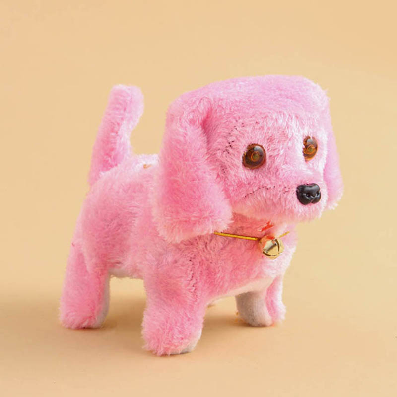 2020 New Cute Walking Barking Toy Funny Electric Short Floss Electric Moving Dog Children Kids Toys