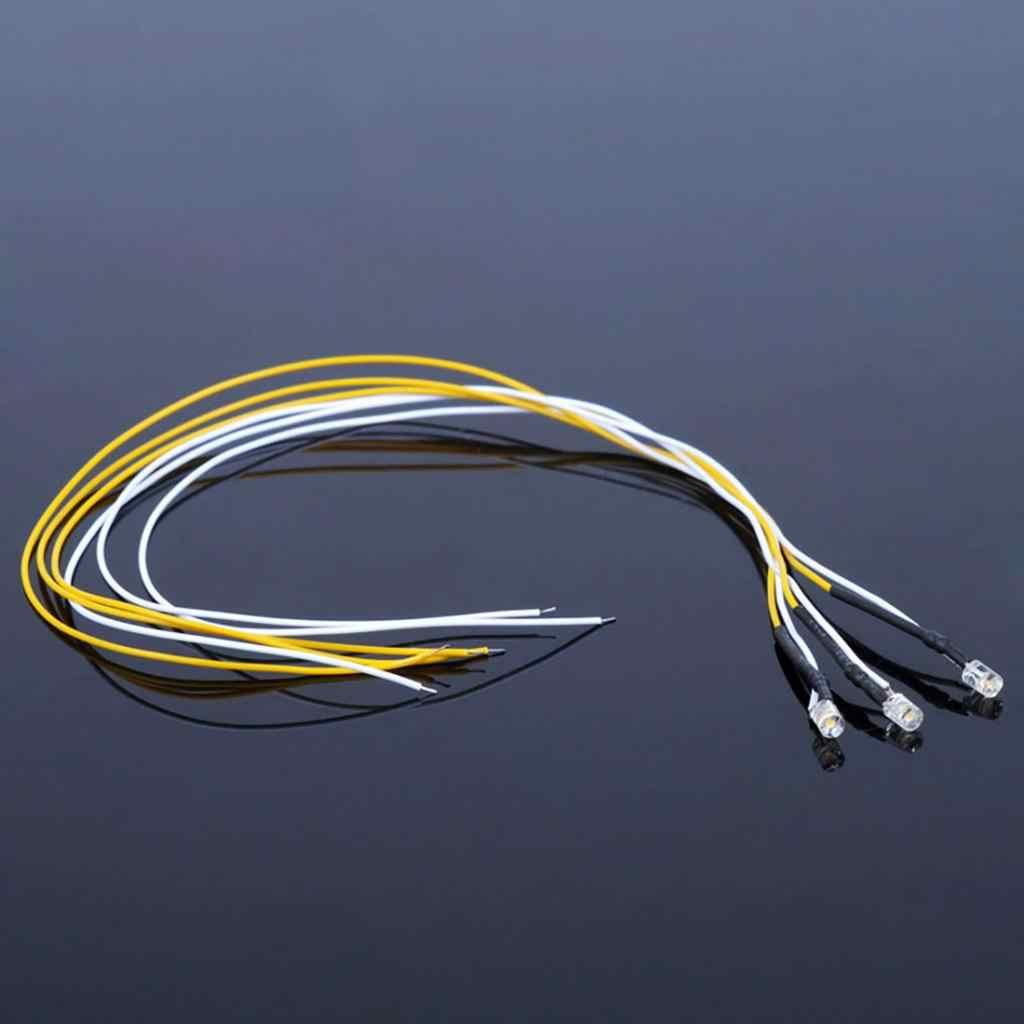 5 sztuk LED przewód światła kabel Diorama dla DIY piaskownica stołowa Drorama architektura budynek dekoracje