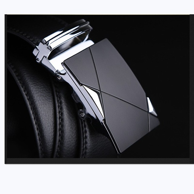 Leather Strap Male Automatic Buckle Belts 2