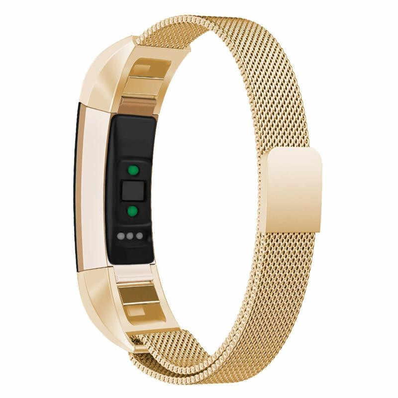 Milanese metal relógio banda cinta pulseira substituição bloqueio magnético malha banda de aço inoxidável para fitbit alta hr/alta ace inteligente