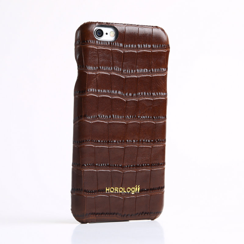 Genuino de lujo de cuero real del teléfono case cover para iphone 6 6 s 7 plus t