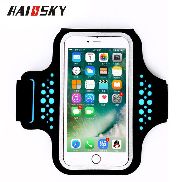 HAISSKY Waterproof Sports GYM Running Armband For iPhone 7 6 Plus Phone Pouch Cover For Samsung Galaxy S8 S7 S6 edge Phone Case